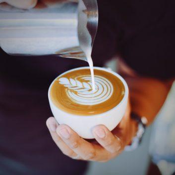 zelfgemaakte cappuccino